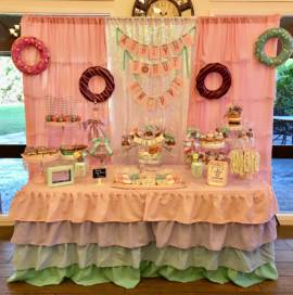 donut candy table